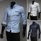 Polka dot new men luxury slim fit dress/casual long sleeve shirt 3color 4sizes