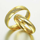Gold Groom & Bride Matching Wedding Titanium Rings 058A3