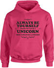 Always Be Yourself Unicorn, The Last Unicorn inspired Kid's Printed Hoodie