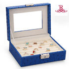 Jewelry Box Beads Ring Storage Organizer DIY Travel Case Faux Leather 198N