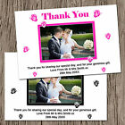 Personalised Butterflies Wedding Photo Thank You Cards 8 Colours Landscape Style