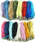 Lot 100 Pcs Hot Sale Pretty Craft Gauze Voile String Necklace Cords 20 Colors