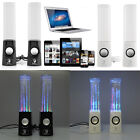 2x Dancing Water Speakers LED Music Fountain Jet Light For iPod iPhone iPad PC
