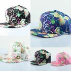 Unisex Floral Printed Flat Box Duckbill Baseball Travel Disco Hip Hop Caps Hat