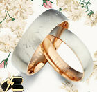 Rose Gold Lord of the Rings Titanium Wedding Rings 088A4