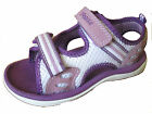 "GIRLS PURPLE DOODLES CLARKS TEXTILE VELCRO SANDALS ""STAR GAMES"""