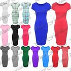 Kids Cap Sleeve Casual Plain Tartan Maxi Stretchy Girls Bodycon Midi Dress Top