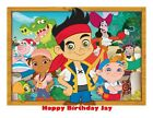 A4 JAKE AND THE NEVERLAND PIRATES EDIBLE WAFER/RICE FONDANT PAPER CAKE TOPPER