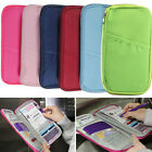 Travel Passport Holder Document Organiser Bag Credit ID Card Purse Wallet Case