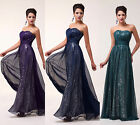 Stunning Strapless Ball Gown Evening Prom Full Length Prom Homecoming Dresses