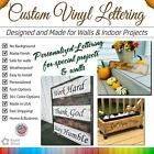 Custom Vinyl Lettering Transfer Decal Sticker Wall Window St
