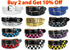 Внешний вид - KIDS CHILDREN METAL STUDS LEATHER BELT Silver Belt Buckle Boys Girls S M L XL