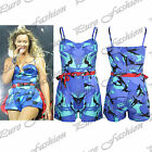 Womens Ladies Celebrity Inspired Camouflage Print Jumpsuit Playsuit Dress Top