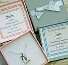 SILVER CHRISTENING GIFT PERSONALISED NAME DATE DEDICATION COMMUNION BIBLE