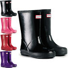 Unisex Kids Hunter Kids First Gloss Rain Snow Waterproof Wellingtons New UK 7-2