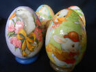 """VINTAGE but NEW 1986 Reflections Decoupage 4"""" Eggs EASTER SPRING NEW"""