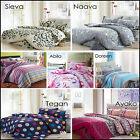 100% Cotton Quilt Doona Duvet Cover Set Bedroom Sheets Size King Double Queen