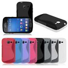 Soft TPU Rubber S-Line Back Case Cover Skin for Samsung Galaxy Fresh S7390 S7392