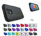 Samsung Galaxy S V 5 S5 Armor TUFF Hard/Soft Dual Layer Case Cover+PryTool