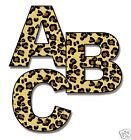 Leopard Print Alphabet Letter Wall Decals Personalize Jungle Room Stickers Decor