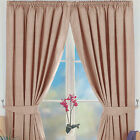 "Norfolk 3"" Tape Pencil Pleat Thermal Blackout Readymade Curtains - Taupe 5 Sizes"