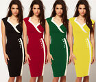 Womens Celeb Style Office Lady Sexy Party Evening Cocktail Bandage Bodycon Dress