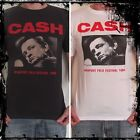**Johnny Cash T-Shirt** Unisex Retro Rock Vest Tank Top **Sizes S M L XL**
