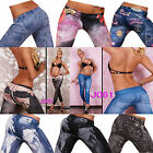 Lady Sexy Women Leggings/Jeggings Womens Fashion tattoo jeans look Fit Size 6-12