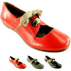 Ladies Fly London FYR Lace Up Retro Mary Jane Work Leather Office Shoe All Sizes