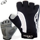 Cycling Gloves Gel Padded Cycle MTB Bike Gloves Velcro Strap Size S - M - L - XL