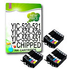 15 Compatible Ink Cartridges for Canon PIXMA Printers Black + Colours With chip