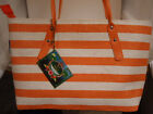 Summer straw tote bags orange Sun & Sand New with tag Free Shipping
