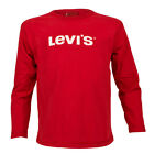 Childrens Levis Notice Red Long Sleeve T Shirt