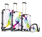 Luxus Trolley Set Trolly Reisekoffer Koffer Boardcase Beautycase Wave Check In