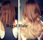 """20""""DIP DYE MICRO LOOPS 1G HUMAN HAIR EXTENSIONS #8/613 DOUBLE BONDED STRAIGHT"""