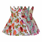 Ladies 1940's 1950's Vintage Style Cotton Flared Floral Dress New Sizes 8 - 20