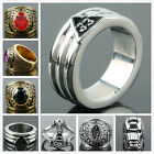 Motorcycle Unisex Men's Carved Stainless Steel Biker Finger Ring Punk Jewellery