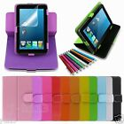 """Rotary Leather Case Cover+Gift For 7"""" Prontotec 7/Noria 7 Android Tablet GB3"""