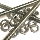M8 A2 Stainless Threaded Bar - Studs - Studding Rod - With or Without Nuts