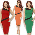 Women Celebrity Slim Fit Wear To Work Cocktail Evening Party Tunic Pencil Dress