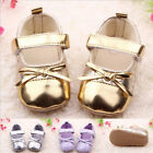 Baby Girl Infant Toddler Leather Bow Soft Sole Anti-slip Mary Janes Crib Shoes