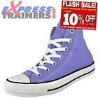 Converse Womens Girls Chuck Taylor All Star Hi Top Trainers Lilac * AUTHENTIC *