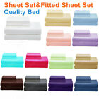 NEW Single/King Single/Double/Queen&King Bed Quality SHEET Set&FITTED SHEET Set