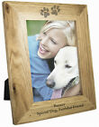 Personalised Engraved  Paw Print Photo Frame - Pets Gift Dog Puppy Cat