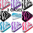 2 CASES TOTAL for iPhone 5 / 5S - Dual Layer Hard&Soft Rubber Hybrid Case ZEBRA