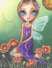 """Taurus"" Art Print Big Eye Fairy Girl Zodiac Starsign Astrology Fantasy Painting"