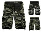 New Men Casual Army Camouflage Cargo Camo Cotton Overall Shorts Sports Pants