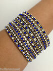 New Indian Bollywood Dance Glitter 6 Bangles Bracelets Mixed Colours Set