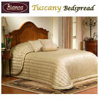 TUSCANY Coffee Jacquard Bedspread - SINGLE King Single DOUBLE QUEEN KING