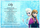 PERSONALISED FIRST NAME ORIGIN MEANING*DISNEY FROZEN*BIRTHDAY GIFT